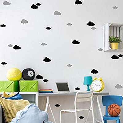 1Set Of 13Pcs Creative Clouds Removable Wall Stickers,Woaills PVC Waterproof Wallpaper,Multi-size Bedroom Living-room Children's Room DIY Home Decor