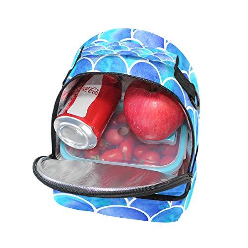 à Alinlo lunch Pincnic réglable Échelle bandoulière coloré Tote l'école Boîte pour sirène à avec isotherme Sac Cooler ZCwZqrXxf