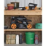 """WORX WG779 40V Power Share 4.0 Ah 14"""" Lawn Mower w/ Mulching & Intellicut (2x20V Batteries) 16 Dual 20V Power Share batteries deliver 40V of Maximum Power and Performance Patented intellicut technology delivers Power on demand save Your battery for when you Really need it Foam padded handles provides a comfortable grip for reduced fatigue while cutting"""