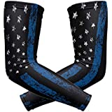 Thin Blue Line Police Life Arm Sleeve Youth Adult Compression Elbow UV Skin Protection Sun Protection Sleeve for Cycling Basketball Baseball Driving