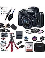 EOS M50 Mirrorless Camera Kit w/EF-M15-45mm and 4K Video - Black - Essential Accessories Bundle photo