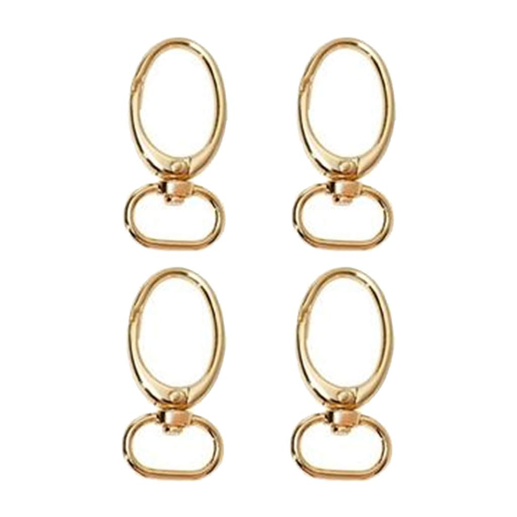 Gold and Handbag Purse Straps Keychains Dailymall Lots of 4 Zinc Alloy Swivel Clasps Lanyard Snap Hook Lobster Claw Clasp Perfect For Making Lanyards Zipper Pulls