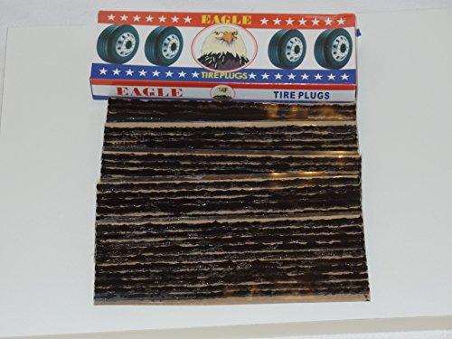 Eagle 250 Seals Tire Repair Plugs 100% Self Vulccanizing Tubeless Slim 8'' X 1/8* by EAGLE (Image #1)