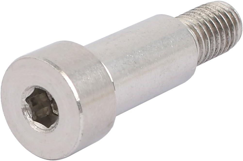 uxcell 304 Stainless Steel Hex Socket Shoulder Bolt 13mm Shoulder Dia 25mm Shoulder Length M10 Thread