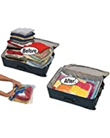 12 High Quality Space Saver Travel Compression Storage Bags (12 pack of Sizes Small to Large) Roll Up No Vacuum Needed by EcoGreen Storage