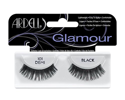 Ardell Fashion (Ardell Fashion Lashes Pair - 101 Demi Black (Pack of 4))