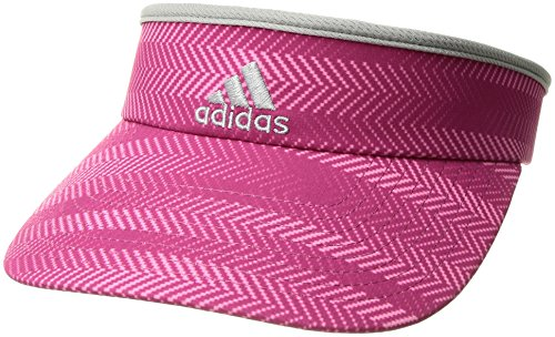 adidas Women's Match Clamp Visor, Ratio Bahia Magenta/Clear Onix/Grey, One Size