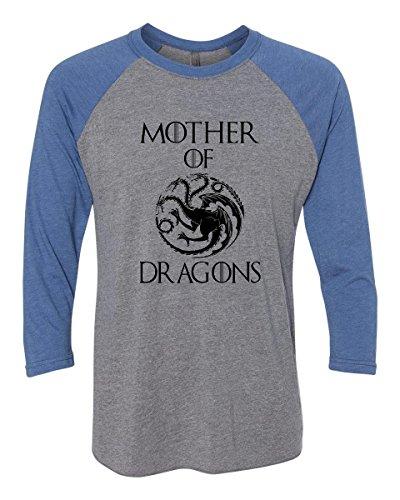 Funny Threadz Unisex Mother Of Dragons Baseball Tee -