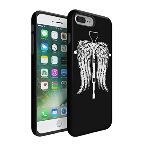 The Walking Dead Daryl Dixon Wings Crossbow Hybrid Hard Plastic Outer & TPU Inner Layer Shock Absorbing Tough Protective Phone Case Cover Shell For iPhone 7 ()