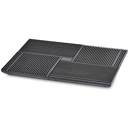 (DEEPCOOL Multi Core X8 Laptop Cooling Pad, 4 Pure Aluminum Extrution Panels with Vertical Airflow Design, Four 100mm Fans with Four Working Modes, Support up to 17