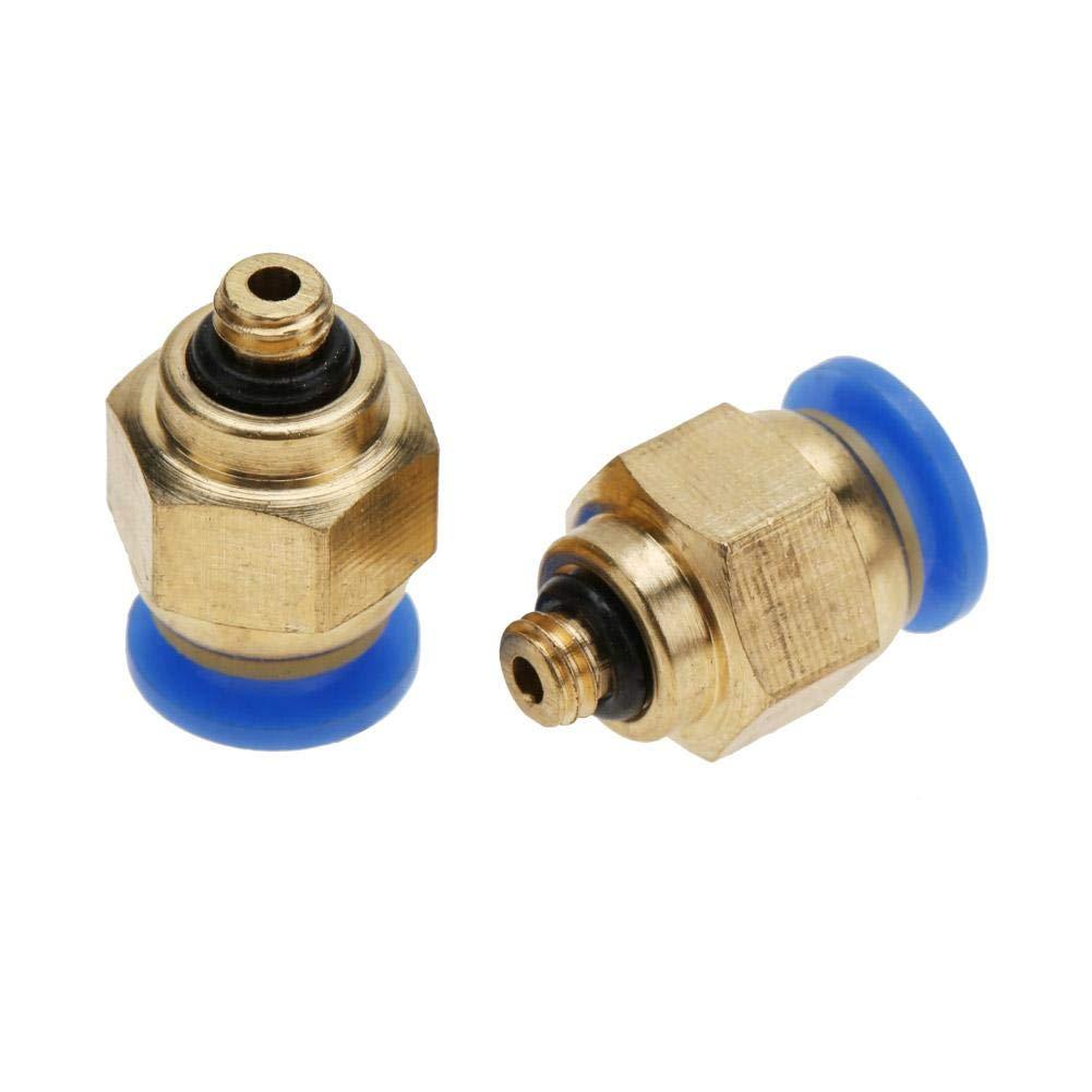 Conector macho de latón 15000-M5-6 AIGNEP Hosetail Adaptador Macho de métrica M5 Hosetail 6mm