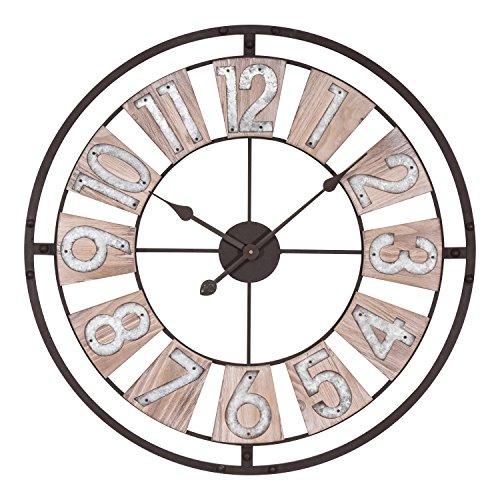 Lacrosse 404-4070 27.5 Inch Industrial Decorative Quartz Wall Clock Lacrosse Metal Clock