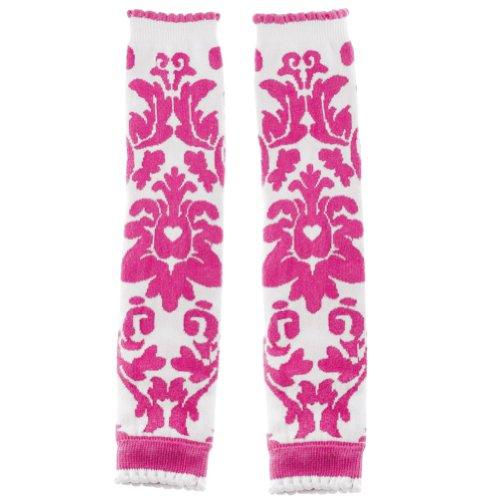 Huggalugs Girls Pink Hamilton Damask Legwarmers