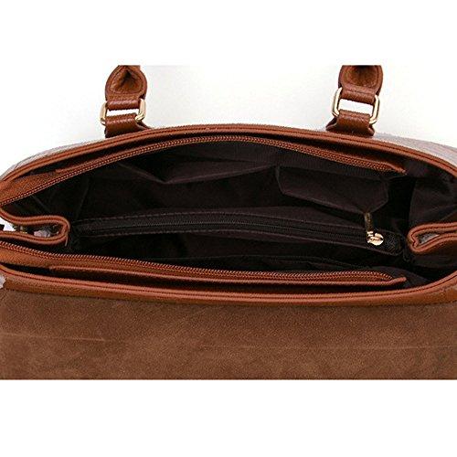 Lady Large Zipper Top Handbag Fashion Leather For Crossbody Tote Bag Shoulder Women Pu Handle Multicolor Black Bag xnFYFqX0