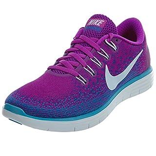 low priced d02ef d68b5 Nike Free Run Distance Womens Hyper Volt/Purple/Blue Running ...