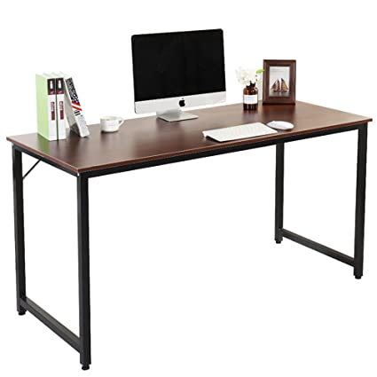 Attirant DlandHome Computer Desk 55u0026quot; PC Laptop Decent Modern Home Office  Workstation With Triangular Solid Support