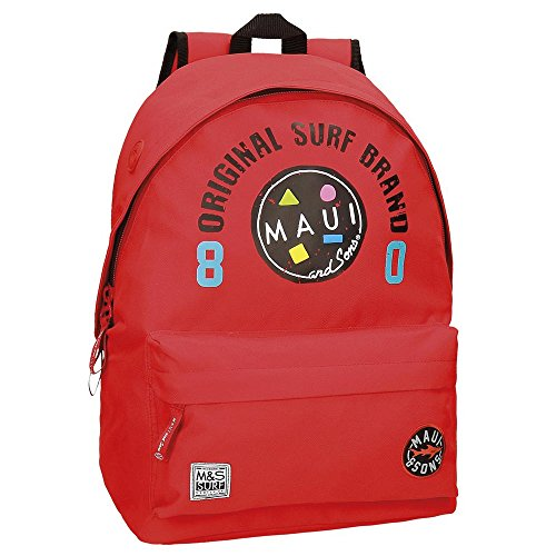 Maui and Sons Cali Rucksack, 42 cm, 22.05 liters, Rot (Rojo)