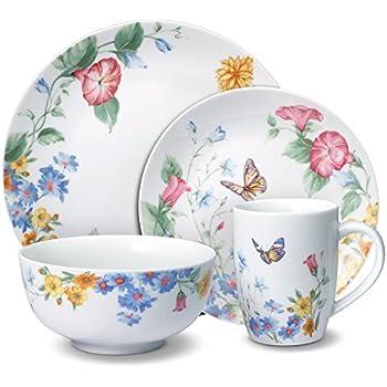 Pfaltzgraff Annabelle Dinnerware Set (32 Piece)  sc 1 st  Amazon.com & Amazon.com: Lenox Butterfly Meadow 18-Piece Dinnerware Set Service ...