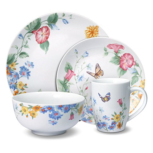 Butterfly Dinnerware - Pfaltzgraff Annabelle 32 Piece Dinnerware Set, Service for 8