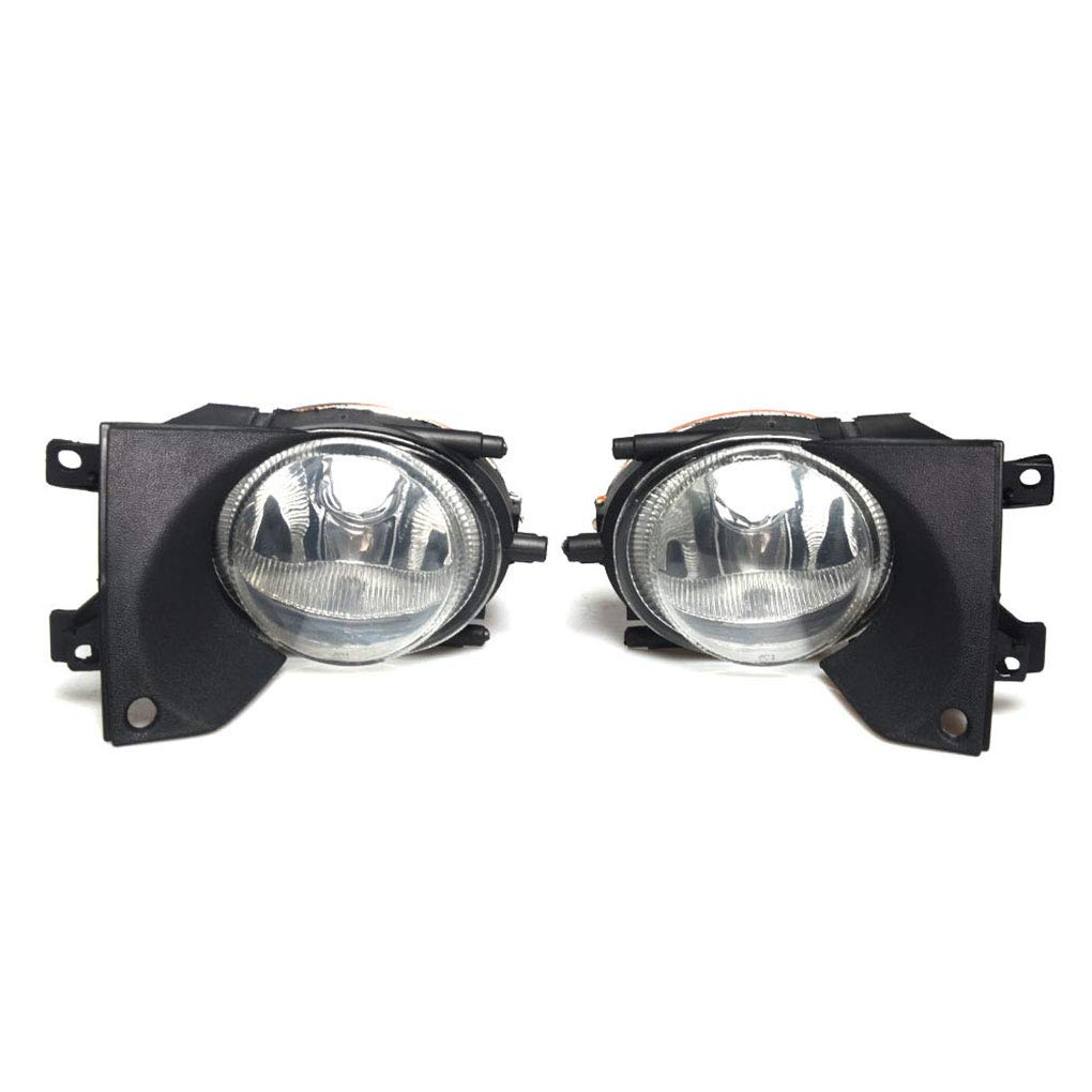 Republe Fit for BMW 5-Series E39 1999-2003 Clear Glass Lens 63176900222 Car Right Side Fog Lights Lamp Housing Without Bulbs