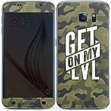 Samsung Galaxy S6 Case Skin Sticker aus Vinyl-Folie Aufkleber Montanablack Fanartikel Merchandise Get On My Level Camo