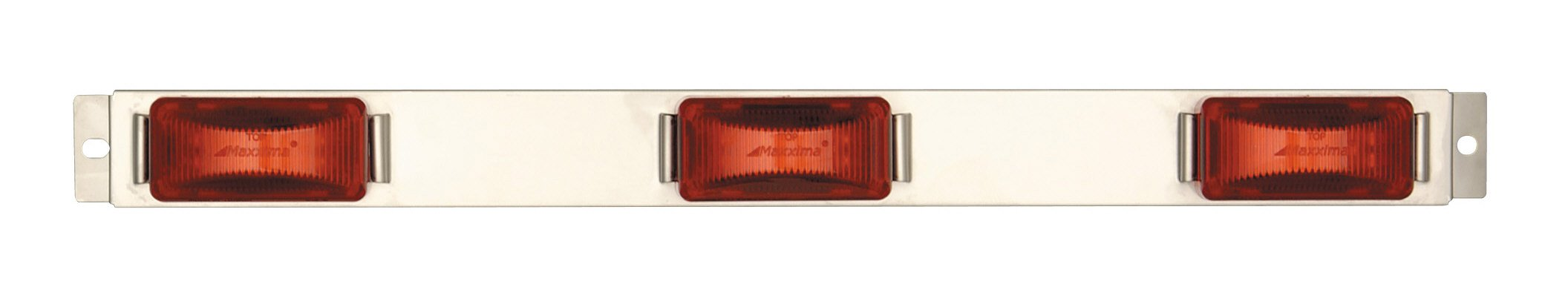 Maxxima M20323R 24 LED Red Stainless Steel Clearance Marker ID Bar Light