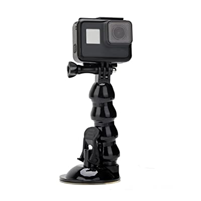 TELESIN Jaws Flex Suction Cup Car Mount Holder with Flexible Gooseneck Extension for GoPro Hero/Fusion/Session, Polaroid, Xiaomiyi, SJCAM,Osmo Action and Smart Phone: Electronics