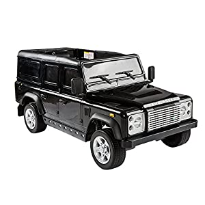 aosom 12v land rover defender kids electric ride on car with mp3 and remote control black
