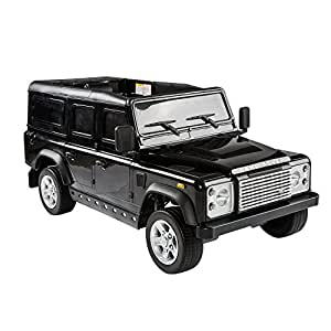 Aosom 12V Land Rover Defender Kids Electric Ride On Car with MP3 and Remote Control - Black