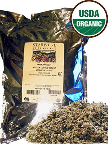 ORGANIC Mullein Leaf Cut Sifted – 1 Lb. 16 oz. – Starwest Botanicals