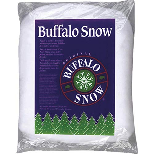 BUFFALO BATT & FELT CB1339 Buffalo Snow for Christmas Decoration, 16-Ounce (Christmas Artificial Trees Closeout)