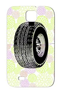 TPU Miscellaneous Truck Car Tire Careers Professions Black Protective Hard Case For Sumsang Galaxy S4
