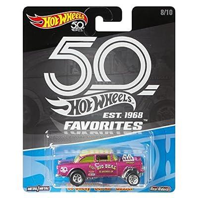 Hot Wheels 50th Anniversary Favs 55 Chevy Bel Air: Toys & Games