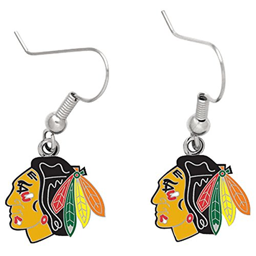 - Wincraft NHL Chicago Blackhawks 43036091 Earrings Jewelry Card