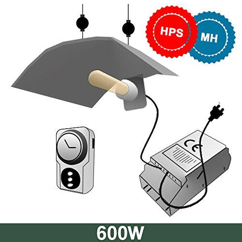 Kit Basic Agro + SuperPlant 600W Mh + SuperPlant 600W Hps