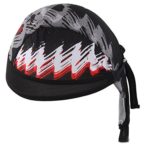Ezyoutdoor Motorcycle Biker Skull Caps Personalized Pirate Scarf Windproof Cycling Sunscreen Sweat Outdoor Head Wraps Hat (#004)