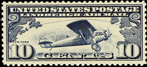 - 1927 10 Cent Spirit of St. Louis Airmail Postage Stamp Scott C10 By USPS