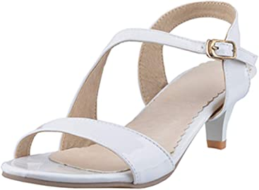 f9480bfcf88 SJJH Simple Designed Sandals with Kitten Heel and Full Size 0 UK - 10.5 UK  Available
