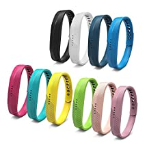 Fitbit Flex 2 Bands, Auskic Soft Silicone Adjustable Replacement Accessories Watch Fitness Wristbands Bracelet Sport Strap Small Large Secure Fasteners Metal Clasps for Kids Men Women