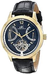 Adee Kaye Men's AK2241-MG/BK Prospere Analog Display Automatic Self Wind Black Watch