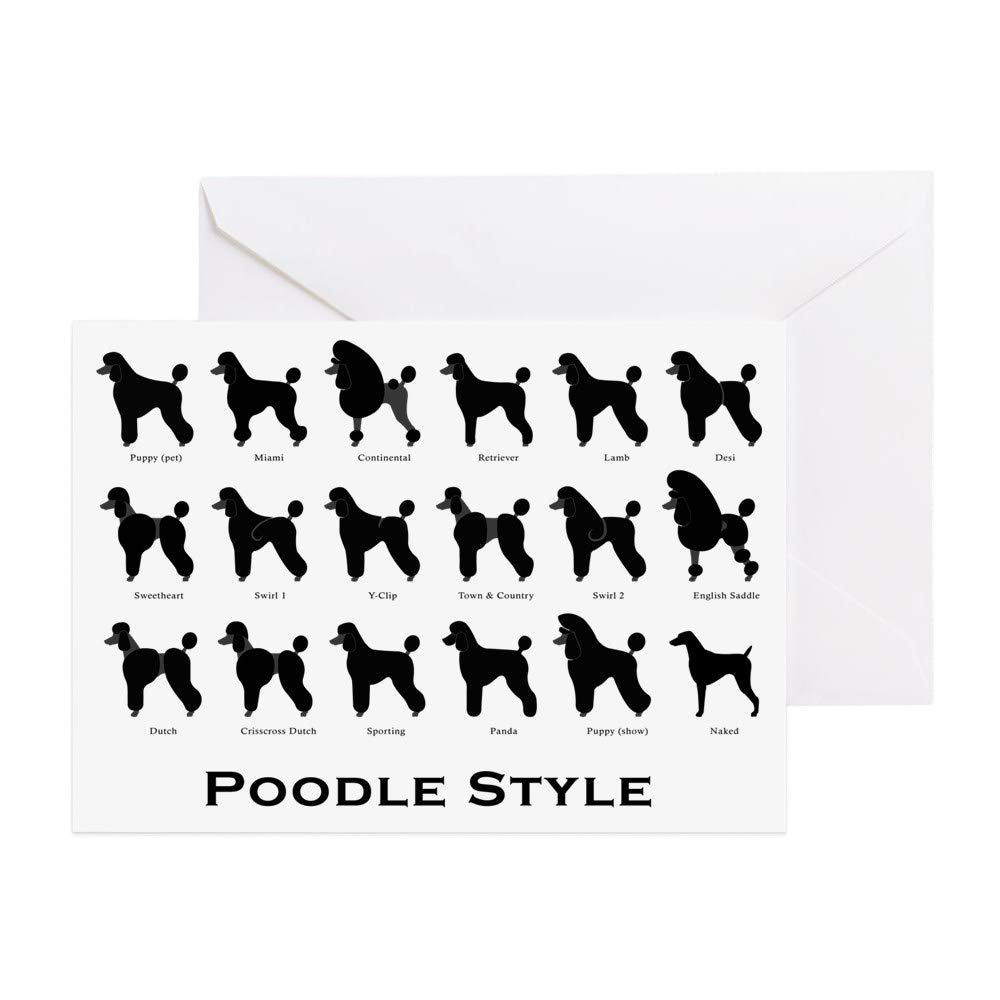 Poodle 10 Blank Greeting Cards Envelopes Set NEW FREE SHIPPING Dog Puppy