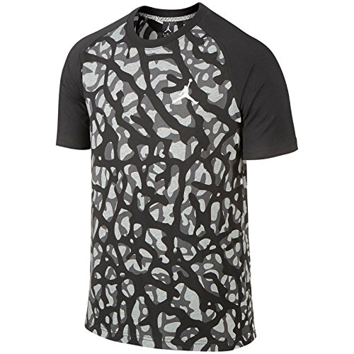 Nike mens air jordan camo elephant print t shirt black grey for Camo print t shirt