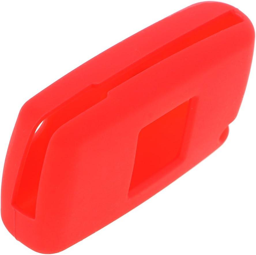 Rojo MagiDeal Funda de Clave Remoto de Silicona Cubierta Protectora de Coche Pieza de Repuesto para Peugeot 207 307 407