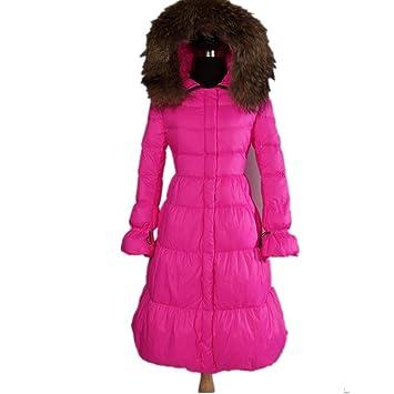 online retailer 0fec3 0034e HXX Damen-Winter-lange dicke weiße Gänsedaunenjacke , pink ...