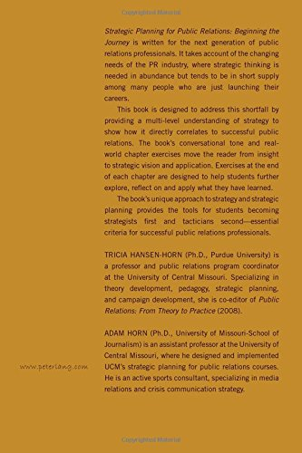 Strategic Planning for Public Relations: Beginning the Journey by Peter Lang Inc., International Academic Publishers