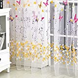 200 cm x100 cm Window Curtain Door Butterfly Tulle Voile Room Balcony Sheer Panel Curtain