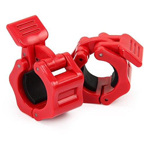 Latinaric Fitness 1 Paar Hantelverschlüsse Hantelstangen Barbell Verschluss für Durchmesser 25mm 28mm 30mm 50mm