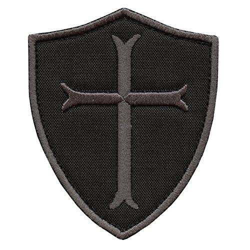 LEGEEON Black Subdued Crusaders Templar Cross US Navy Seals ACU DEVGRU Embroidered Sew Iron on Patch