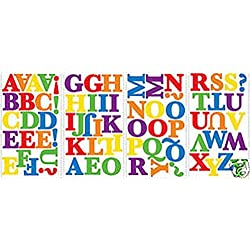 Lunarland RAINBOW Colored ALPHABET 73 Wall Stickers Kids Name Letters Room Decor Decals