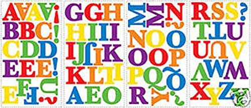 Lunarland RAINBOW Colored ALPHABET 73 Wall Stickers Kids Name Letters Room Decor Decals (Colored Alphabet Letters)